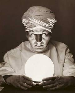 Close-up of a fortune teller looking into a crystal ball --- Image by © SuperStock/Corbis